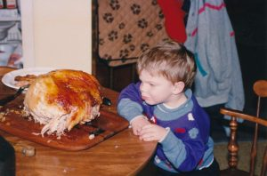 Tommy with turkey
